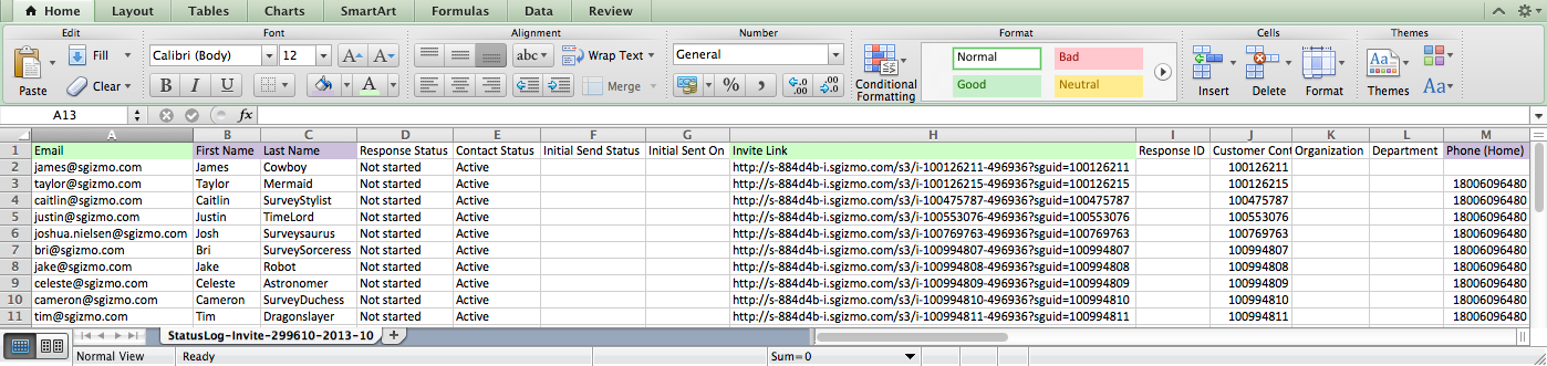 SurveyGizmo Status Log File