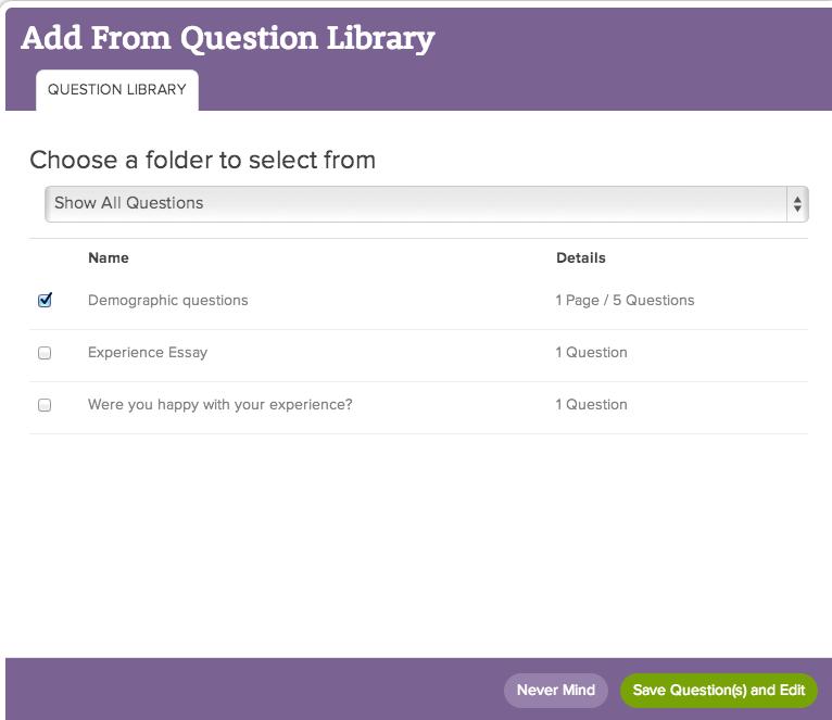 Question Library SurveyGizmo – Demographic Survey Template