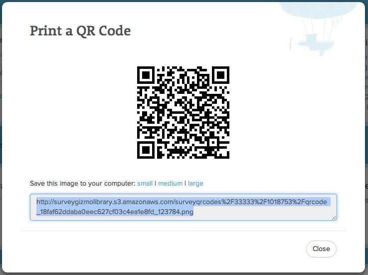 qr Codes Surveys Select Printing a qr Code