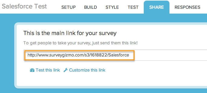 Email A Survey Via Salesforce Surveygizmo Help