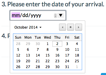 HTML5 Date Format