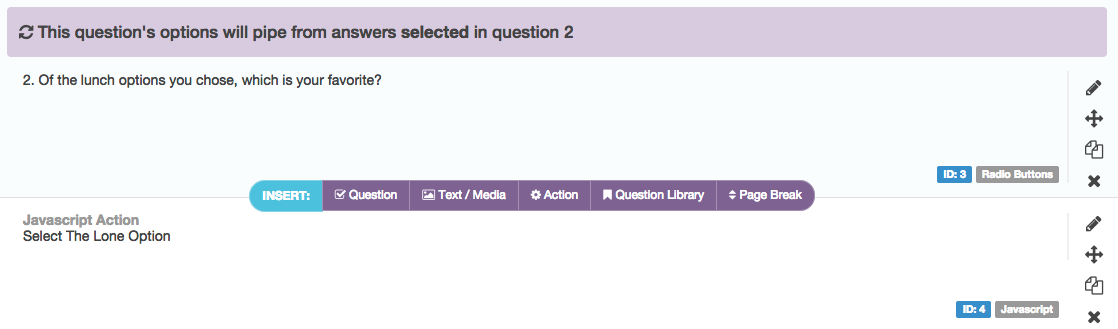 If Only One Option Was Chosen, Select It | SurveyGizmo